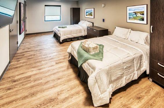 bedroom at detox center