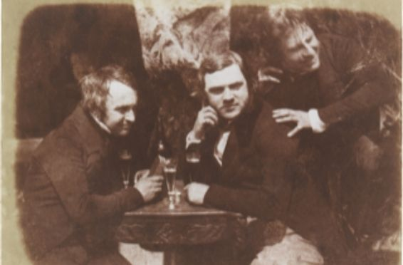 vintage style photo of drunk men