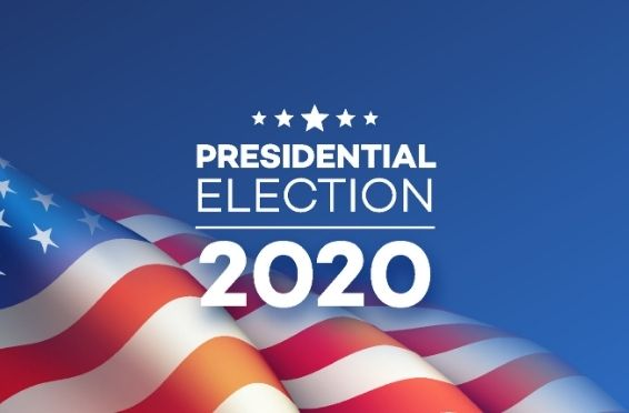 2020 presidential election banner and mental health on election day concept image