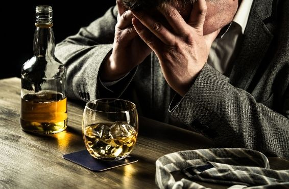 person going through alcohol withdrawal