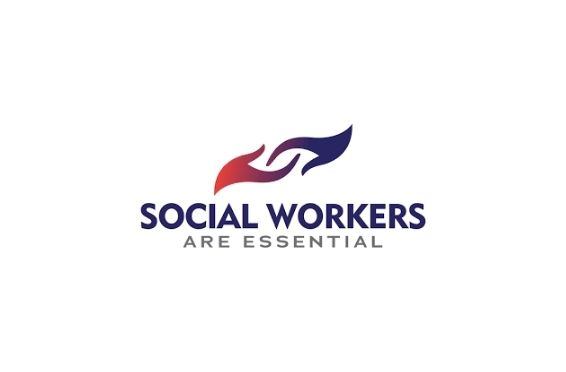 badge for national social workers month