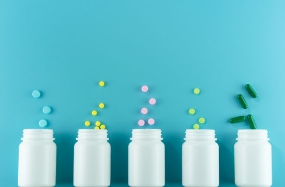 Over-The-Counter Medications'pill bottles